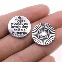 10 pièces aujourd'hui serait un beau jour pour être un pendentif à breloques papillon bijoux à bricoler soi-même résultats ton 20mm