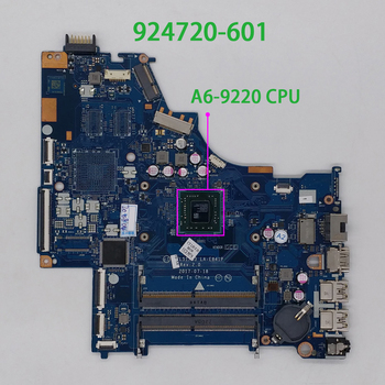 for HP 15 15-BW 15Z-BW000 Series 924720-601 924720-001 CTL51/CTL53 LA-E841P UMA A6-9220 CPU PC NB Laptop Motherboard Mainboard 926283 601 926283 001 dag94cmb6d0 uma w a9 9420 cpu for hp laptop 15 cd series 15z cd000 pc motherboard mainboard tested