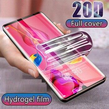 Перейти на Алиэкспресс и купить Мягкая прозрачная Гидрогелевая пленка для Vivo Y9s Z5i U20 V17 SD665 Y5s Y19 полное покрытие изогнутая защита экрана не закаленное стекло