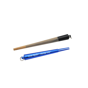 Image 3 - Honeypuff fabricante de rolo cone de metal prerolled cone erva acessórios máquina de rolamento de papel para o fabricante de cigarros de rolamento
