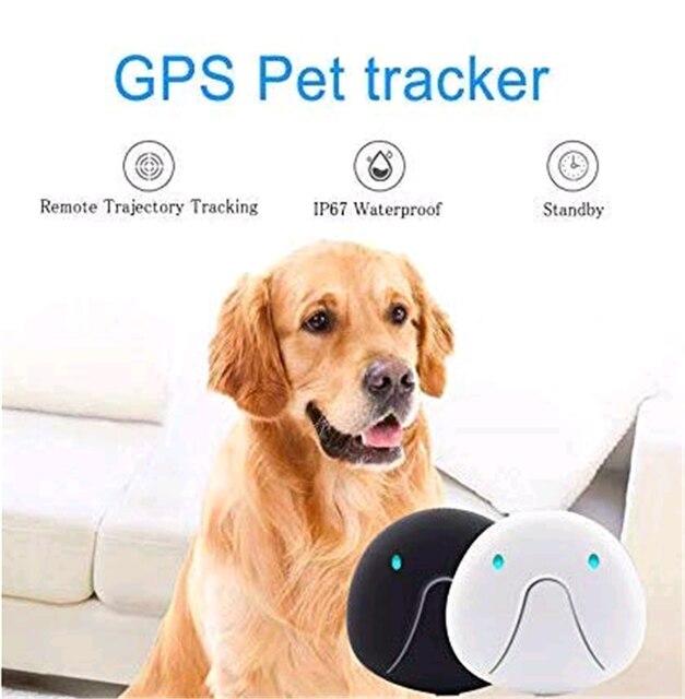 Rastreador inteligente Mini para mascotas, Rastreador Gps para perros, Collar Gps AGPS LBS, dispositivo de seguimiento Wifi, Rastreador de mascotas impermeable Collar localizador 2