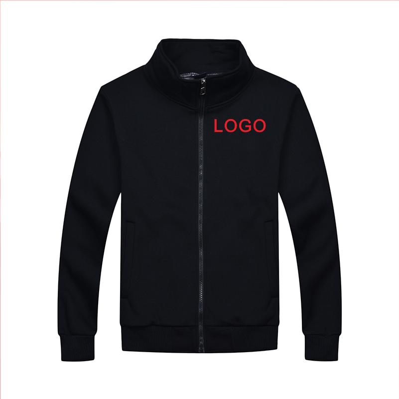 YOTEE2020 jesienno-zimowa casual wysokiej jakości stojak kołnierz kurtka z zamkiem własne logo haft mężczyźni i kobiety topy