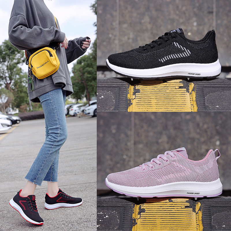 Stylish Running Shoes Women's Sneakres Breathable Light Walking Women Sport Shoes Soft Comfortable Flats Woman Gym Shoes Outdoor