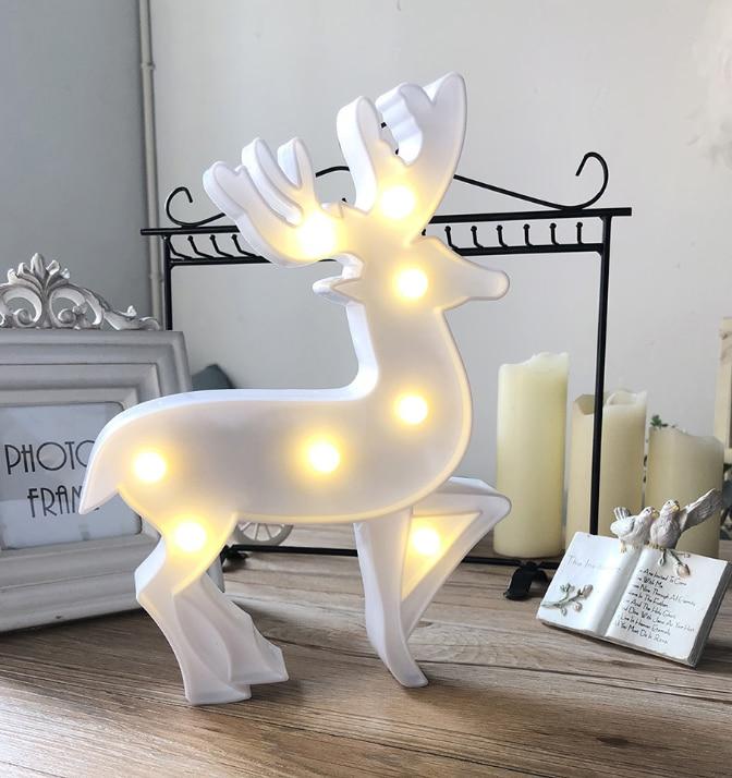 Ins led caribou shaped decorative light night light