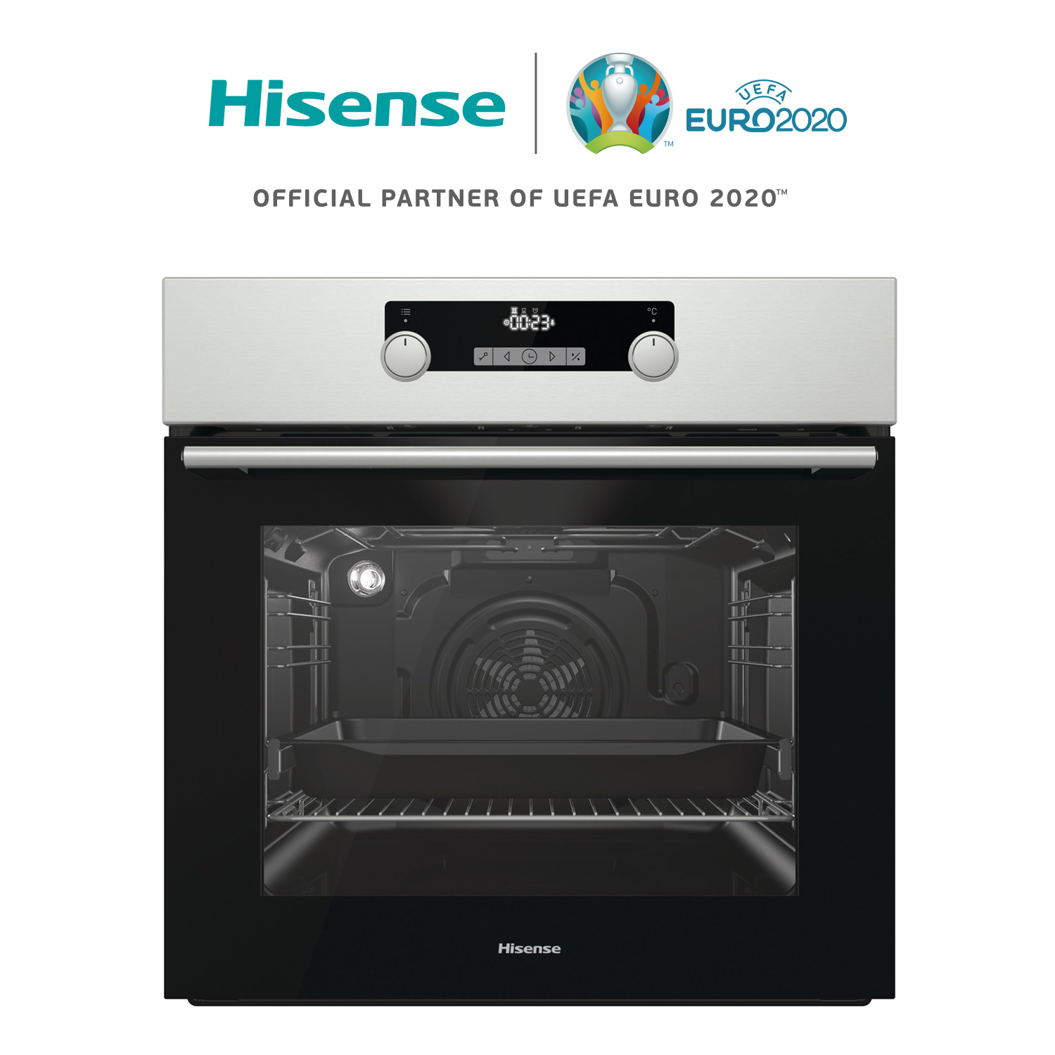 Hisense O522AX Oven recessed, Easy To clean, LED Display icon, 3300W, 71L, stainless steel, 59,7 × 59,5 × 54,7 cm