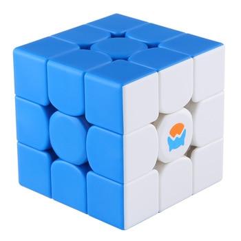 Cubo mágico 3x3 de GAN MG356, juguetes educativos para evoloping, inteligencia, descompresión del cubo, juego para niños, versión en dos colores blanco y azul