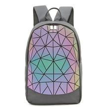 Brand backpack Women travel bagpack High capacity Luminous Geometric rucksack Gi