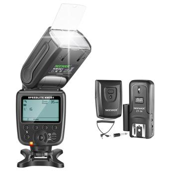 Neewer NW-561 GN38 Manual LCD Display Speedlite Flash Kit for Canon Nikon and Other DSLR Cameras, Includes: NW561 Flash+Trigger