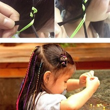 Girl Colorful Hair Extension Styling Tool