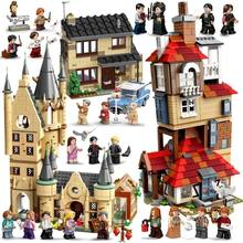 Moc castelo mágico no céu grandes legoinglys salão quidditch jogo expresso buckbeak resgate hedwig blocos de construção tijolos brinquedos