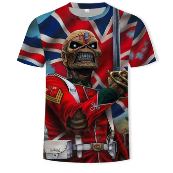 2019 Summer New Funny skull 3d T Shirt Hipster Short Sleeve Tee Tops Men/Women Anime T-Shirts Homme sleeve tops
