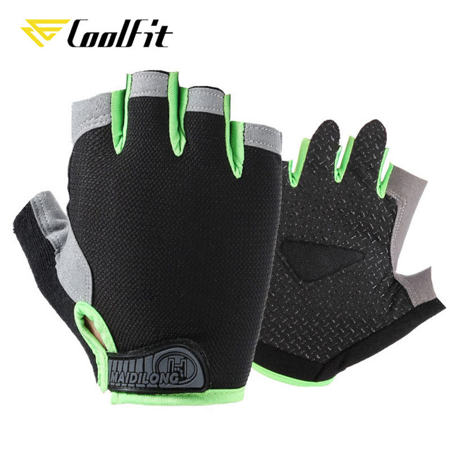 CoolFit Breathable Fitness Gloves Silicone Palm Hollow Back Gym Gloves Weightlifting Workout Dumbbell Crossfit Bodybuilding 4