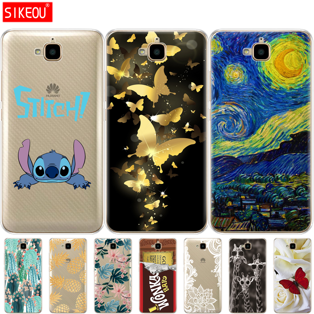 Case For Huawei Honor 4C Pro Case Honor 4C Pro Cover Soft Silicone Back Phone Cover For Huawei Y6 Pro 2015 Case TIT-L01 TIT-TL00