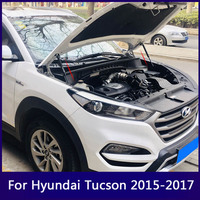 Front Engine Hood Support Rod Lift For Hyundai Tucson 2015 2016 Car Hood Hydraulic Gas Jackstay Strut Bars For Tucson 2017 2018