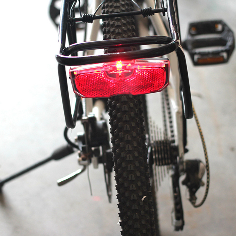 Bike Cycling Bicycle Rear Reflector Tail Light For Luggage Rack NO Battery Bright Reflective Safety Night Riding