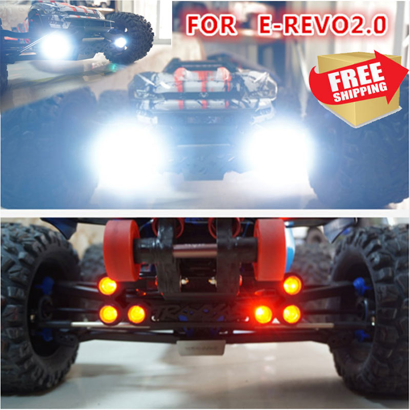 1/10 Traxxas 86086-4 EREVO E REVO 2.0 LED Front + Tail Lights For QL 2.0 Roll Cage