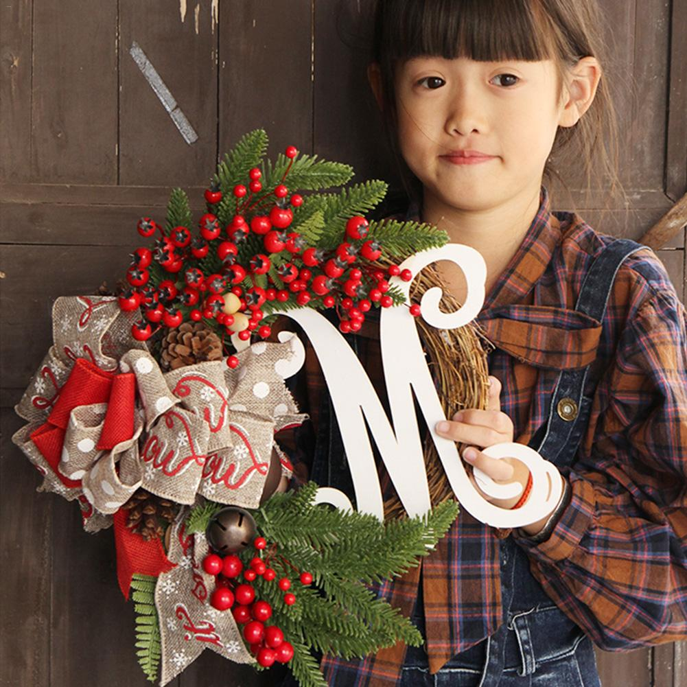 2020 Christmas Wreath Handmade Rattan Pendant Garland Shopping Mall Christmas Tree Door Decoration Wreath Guirnalda Navidad Hot