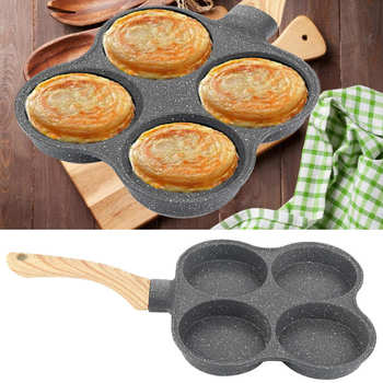 Non-Stick 4 Hole Omelet Pan Frying Pans Breakfast Pancake Maker For Induction Cooker Gas Stove Home Kitchen Cookware