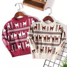цена на 2019 New Children Sweaters Autumn Winter Kids Pullovers Boy Girl Long Sleeve Crew Neck Christmas Sweater