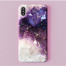 Luxury Purple Crystal Style Phone Case For iphone X XR XS Max Soft TPU Cover iPhone 8 7 6 6S Plus Cases Glossy Capa