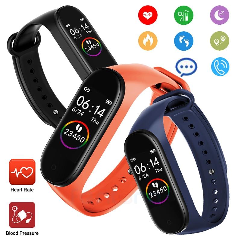 2020 M4 Smart Watch Band Fitness Bracelet Trcker Sport Pedometer Heart Rate Blood Pressure Bluetooth Health Wirstband SmartWatch