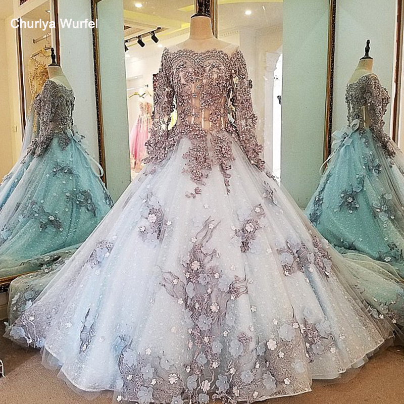 LS00034 evening dress lace beading ball gown long party formal dress organza robe de soiree abendkleider 2018 real photosrobe de soireerobe dereal photo -