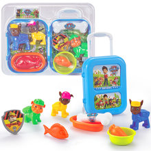 Dog Team 6-Play House Suitcase with Pull Rod Boys And Girls CHILDREN'S Furniture Wang University Work Toy Set(China)