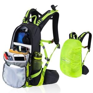 Image 4 - Zaino da idratazione impermeabile 20L, zaino da uomo riflettente notturno, borse da campeggio da trekking traspiranti con parapioggia