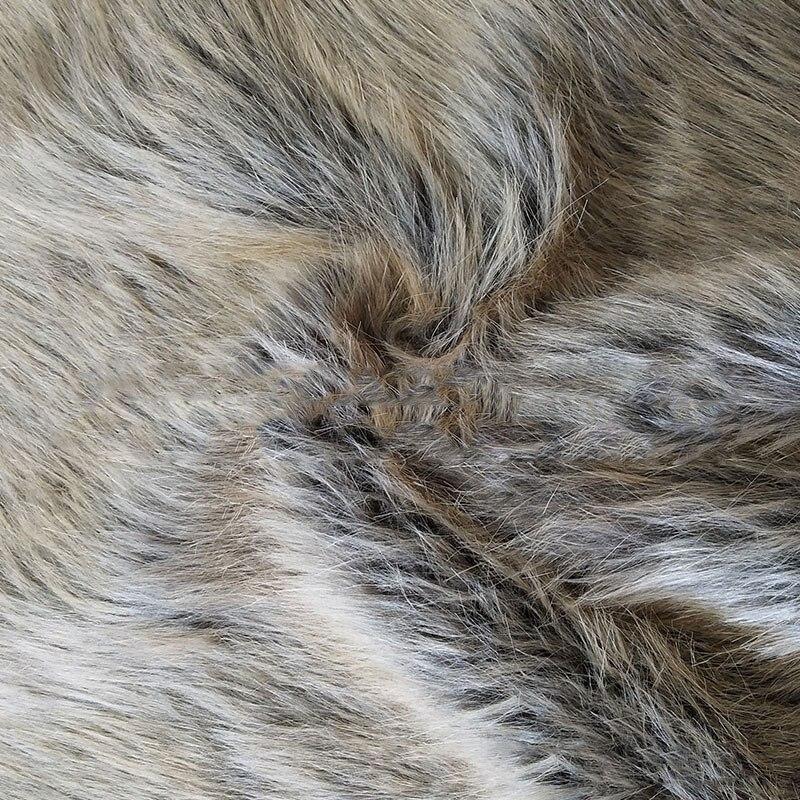 Automne et hiver épaississement fausse fourrure bicolore artificielle collier de fourrure vêtements jouets canapé chaussures tissu en gros
