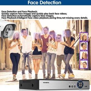 Image 2 - Yeni 2020 yüz kayıt H.265 + 8CH POE NVR kiti 5MP POE açık kamera güvenlik kamerası sistemi ev güvenlik Video gözetleme seti