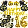 Латексные воздушные шары с цифрами, 18, 20, 21, 30, 40, 50, 60, 70, 80, 90 лет