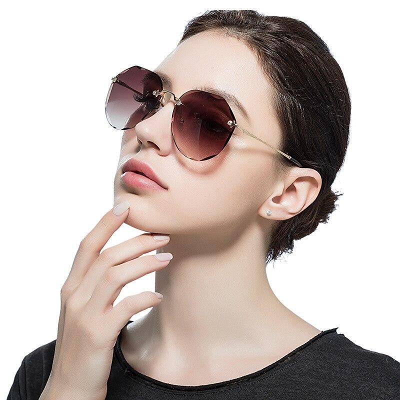Metal frameless Sunglasses irregular trimmed Sunglasses high end elegant outdoor Sunglasses in Women 39 s Sunglasses from Apparel Accessories