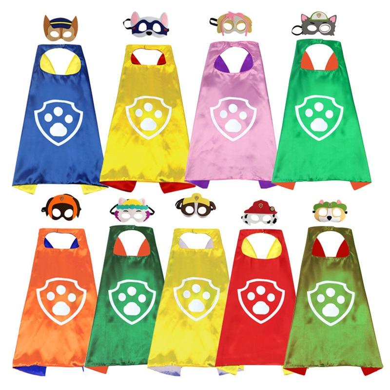 Paw patrol toy set mask cloak cape Cosplay cartoon paw patrol psi patrol gift Halloween party decoration birthday gift