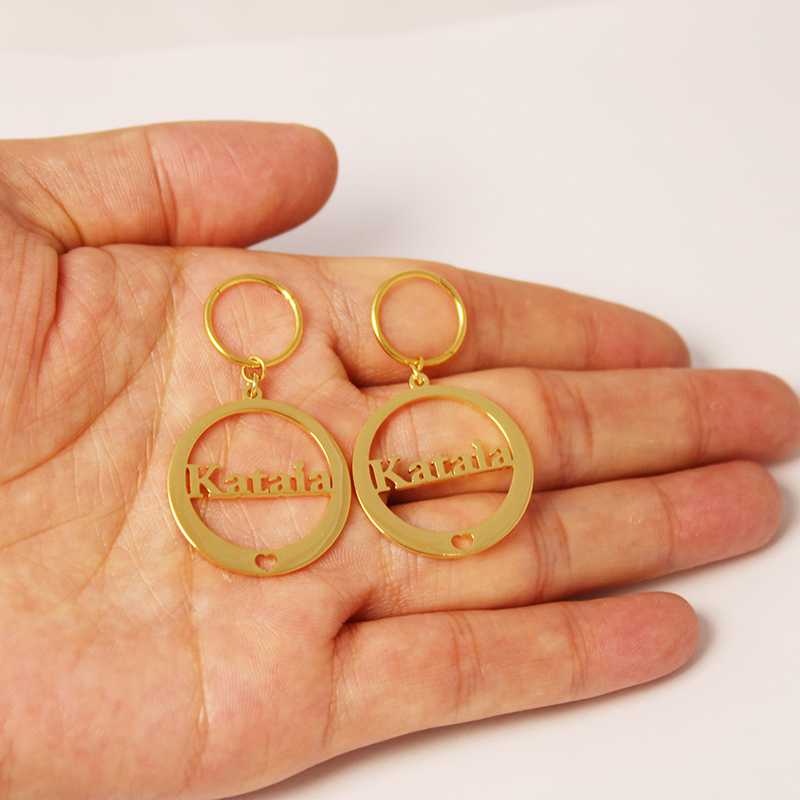 Custom Earring Personalized Name Earrings For Women Stainless Steel Party Jewelry