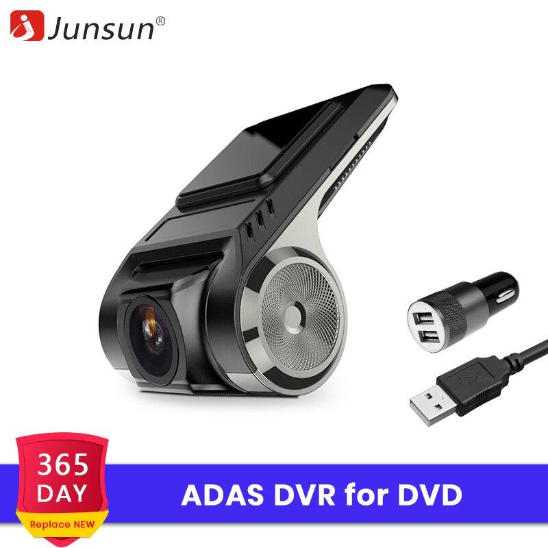 Junsun S500 ADAS Автомобильные видеорегистраторы Full HD камера LDWS Авто рекордер 2018 скрытый тип для Android мультимедийный плеер DVD
