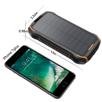26800mAh Solar Power Bank Fast Qi Wireless Charger For iPhone Samsung Powerbank External Battery Portable Poverbank Flashlight 6