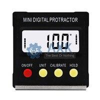 360 graus mini digital transferidor inclinômetro eletrônico caixa de nível base magnética ferramentas medição lt75|  -
