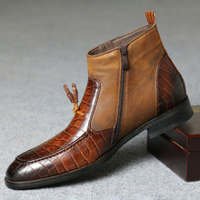 Shoes Boots Footwear Zipper Men Chelsea Male Winter Men Fashion Warm Plush Autumn Ankle