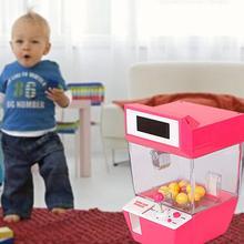 Ловец будильник монета машина игра машина конфеты висячая кукла коготь машина аркадная детская Автоматическая Игрушка Дети