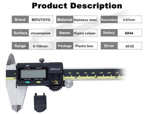 Image 3 - Mitutoyo CNC LCD Caliper Digital Vernier Calipers 8inch 150 200 300mm 500 196 20 Caliper Electronic Measuring Stainless Steel