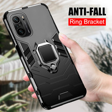 Custodia antiurto per armatura per Xiaomi Poco F3 X3 Pro M3 Pocophone Little F M X 3 NFC supporto magnetico per auto supporto per anello supporto per telefono Coque