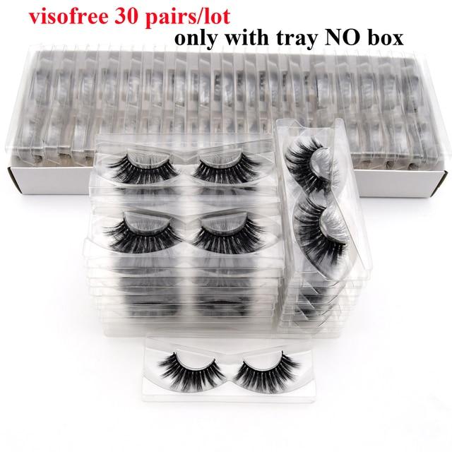 30Pairs Visofree Ciglia 3D Visone Capelli Ciglia Finte Vegan Crudeltà di Trasporto Naturale di Spessore Lunghe Ciglia Dellocchio di Trucco di Bellezza di Estensione