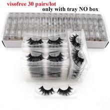 30Pairs Visofree الرموش ثلاثية الأبعاد المنك الشعر الرموش الصناعية النباتية القسوة الحرة الطبيعية سميكة طويلة رموش ماكياج الجمال تمديد
