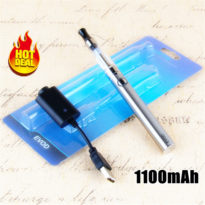 1100mah EVOD Electronic Cigarette CE4 Vaporizer Starter Kit 510 Thread Vape Pen Battery 1.6ml Ego Ce4 Atomizer Vaper Pens