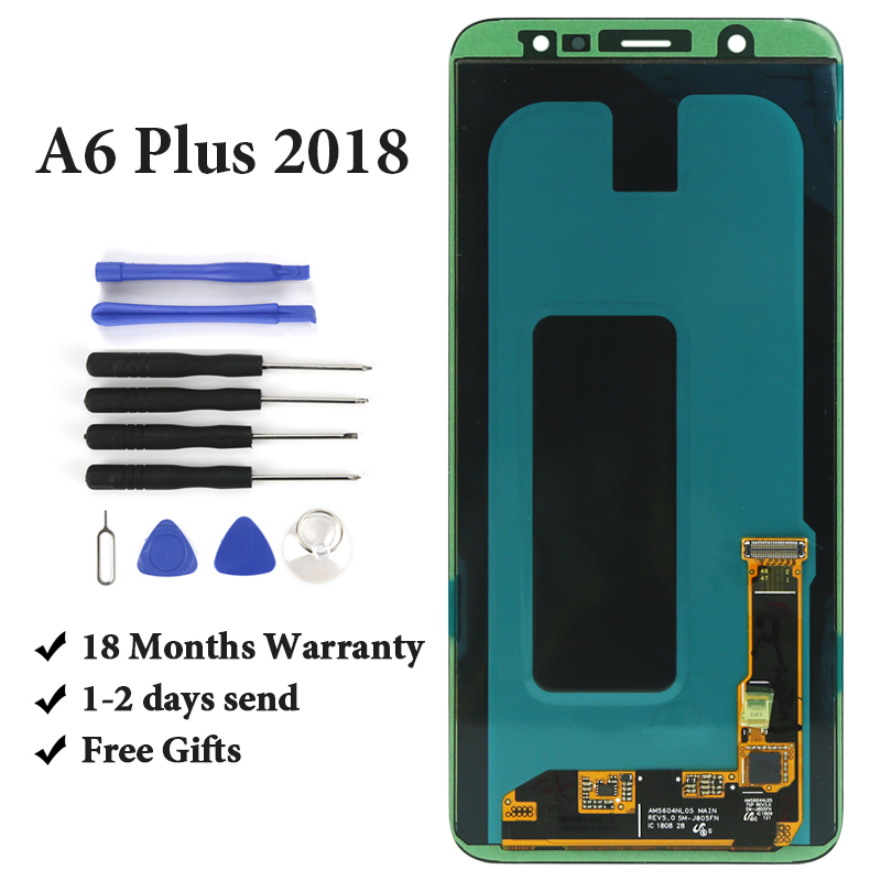 Original For Samsung A6 Plus 2018 A605 A605F LCD Touch Screen AMOLED No Dead Pixel Assembly For Samsung A6+ 2018 LCD Display