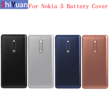 Original Back Battery Cover Rear Door Panel Housing Case For Nokia 5 Battery Cover with Camera Lens Logo Replacement Part