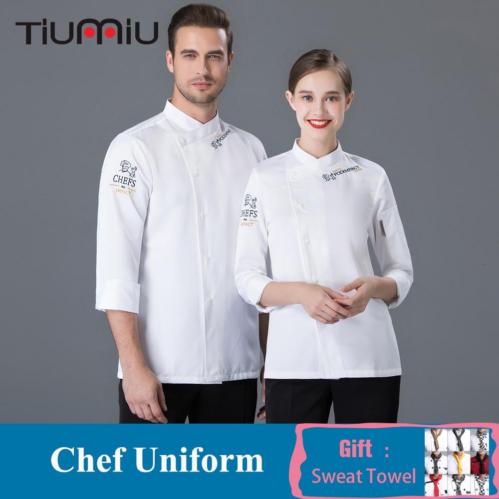 Chef Long Sleeve Jacket Professional Head Chef Uniform Restaurant Hotel Kitchen Workwear Bakery Food Service Unisex Chef Coat