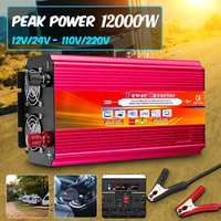 12000W Car RV Power Inverter DC 12V to 110V /220V Home Car RV Solar Power Converter for Household Appliances For Emergency