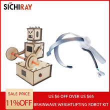 Sichiray DIY handcraft brainwave intelligent voice Brainwave Brainlink toys Neurosky headset EEG feedback weightlifting robot стоимость
