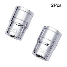 Utoolmart 2pcs 8mm/9mm/13mm/19mm 1/2 Drive 8mm Chrome-vanadium Steel 6 Point Axle Nut Hex Plum Socket Wrench Sleeve Hand Tools standard socket for wrench 1 2 drive 8 32mm metric mm 6 point axle nut hex new